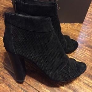 Vince Camuto Peep Toe Booties